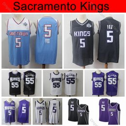 Foxes shirt online shopping - 2019 SacramentoKings De Aaron Fox Jersey Edition City Basketball Jerseys Purple Chocolate Jason Williams Jersey Vintage Stitched Shirts