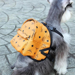 $enCountryForm.capitalKeyWord Australia - INS Fashion PU Leather Pets Backpacks Personality Cute Charm Brand Pet Shoulders Bags Outdoor Street Style Teddy Schnauzer Bags With Box