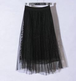 $enCountryForm.capitalKeyWord Australia - New Women Long 3 Layers Tulle Princess Tutu Pleated Midi Skirt High Waist Petticoat Underskirt Bridesmaid Gown