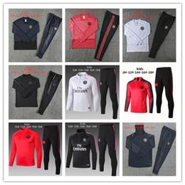 paris tracksuit 2019 - 2018 2019 Man United Paris kids tracksuit chanmpion league men utd pogba football jerseys sportswear shirts Long sleeve