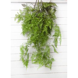 indoor green artificial plants Australia - High Quality 94cm Simulation Plant Bouquet Wholesale Fish Pine Fern Leaf Indoor Artificial Plant Wall Decoration