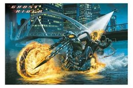Sticker Designs For Motorcycle Australia - GHOST RIDER MOVIE Motorcycle Nicolas Cage Art Silk Poster 24x36inch 24x43inch 0587