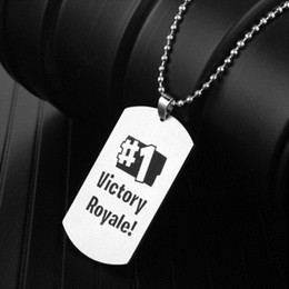 Game punk online shopping - Pendant Necklace Black Stainless Steel Hot FPS Game Fans Souvenirs Gift Punk Style Men Women Necklaces Hot Fashion Jewelry