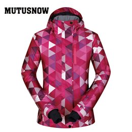 Polyester Jacket Windproof Australia - MUTUSNOW Jackets Women Ski New Outdoor 2019 Sports Windproof Waterproof Thermal Skiing Hooded Coat Winter Snow Snowboard jacket Sets Brands