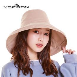 $enCountryForm.capitalKeyWord NZ - Wide Brim Panama Hat Summer Men Women Bucket Hats With Ribbon Outdoor Solid Casual Flat Adult Black Red Beach Caps Hiking Cap