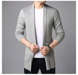 pocket decorations NZ - Designer Solid Mens Sweater Cardigan Fashion Big Pocket Decoration Homme Clothes Spring and Autumn Casual Clothes