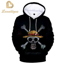 Wholesale one piece luffy cosplay resale online - Anime One Piece Luffy Hoodies D Print Pullovers Autumn Winter Sweatshirts Casual Tops Outfit cosplay