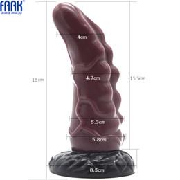 $enCountryForm.capitalKeyWord Australia - Faak 2018 Hot Sale Dildos For Women Anal Plug Rhino Horn Shape Large Silicone Butt Plug Intimate Goods Sex Toys For Couples Y190716