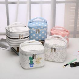 $enCountryForm.capitalKeyWord Australia - Hot sell Women Cosmetic Bag Zipper PU Leather Makeup Hand Holding Storage Bag Waterproof Travel Organizer Cheap Wash Case