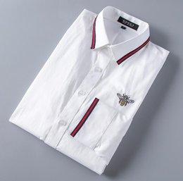 Großhandel 2019 American Casual Marke Slim Plaid Langarm-Hemden, Herren Freizeit auf Spannhaken, Medusa Männer Langarm-Shirt Casual Herrenhemden