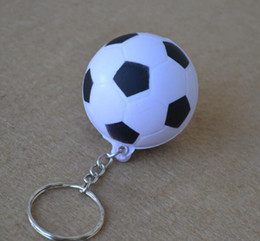soccer rings Australia - 5Colors Soccer Patten Soft Keychain Bag Parts for kids key ring pendant creative toy