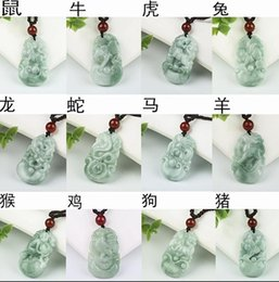 Chinese Zodiac Charms Australia - 39.1x24.4x6.5mm Tjp Natural Grade A Jadeite Myanmar Green Jade Chinese Zodiac Pig Mysterious Protection Pendants Jade J190613