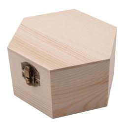 China DIY Fashion Gift Box Simple Portable Hexagon Shaped Wood Jewelry Box Wedding Holder Jewelry Display supplier diy jewelry holders suppliers