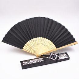 $enCountryForm.capitalKeyWord NZ - New Chinese Silk Folding Luxurious Silk Fold Hand Fan in Elegant Laser-Cut Gift Box Party Favors Wedding Gifts