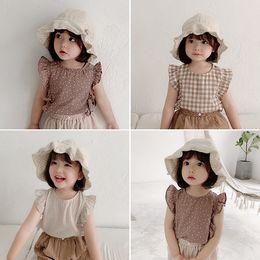 Детская одежда Summer 2019 New Girl Vest Футболка с коротким рукавом без рукавов Кукла Рубашка Летняя детская одежда Tide на Распродаже