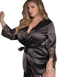 $enCountryForm.capitalKeyWord Australia - 3xl 4xl 5xl Plus Size Women Sexy Lingerie Hot Satin Lace Babydoll Sleepwear Sexy Costumes Night Gown Robe Dress Erotic Underwear J190711