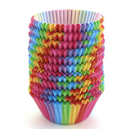 $enCountryForm.capitalKeyWord Australia - Pack of 100 Rainbow Cupcake Paper Baking Cup Muffin Cup Cup Liners Standard Size