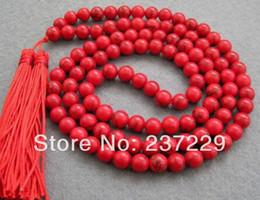 $enCountryForm.capitalKeyWord Australia - lovers women good Wholesale price FREE SHIPPING ^^^^Asia tibetan 108 Red stone 8mm Beads Buddhist Prayer Necklace Mala