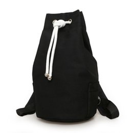 aef81810af Daypack Outdoor Bag Hike Camping Gym Drawstring Casual Solid Travel Storage  Fashion Men Backpack Canvas Large Capacity