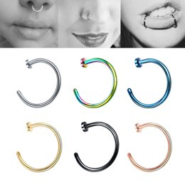 nose piercing styles UK - Women Men Stainless Steel Nose Ring Body C Style No Piercing Bone Clip Jewelry Nose Earring Piercing Fashion Jewelry