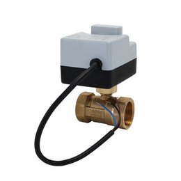 $enCountryForm.capitalKeyWord Australia - New AC220V 2-Ways 3-Wires Brass Motorized Ball Valve Electric Actuato With Manual Switch Energy-saving Actuator Moto Safe Stable