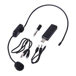 Uhf wireless headset online shopping - UHF Wireless Microphones Stage Wireless Headset Microphone System Mic For Loudspeaker Teaching Meeting Tour Guide Stage Karaok