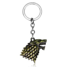 China Game of Thrones Wolf Head Keychain Winter Is Coming Song of Lce And Fire Keychains For Women Men Car key Handbag Belt Hang Buckle Jewelry suppliers