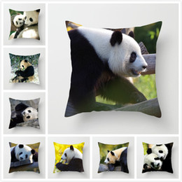 Pillows Blue Chinese Print Australia - Fuwatacchi Animal Printed Throw Pillow Covers Chinese Panda Cushion Cover for Sofa Car Seat Home Decorative Pillow Case 2019