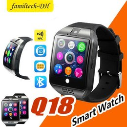 """$enCountryForm.capitalKeyWord Australia - Q18 Smart Watches 1.54"""" Curved Screen Bluetooth Smart Watch phone Q18 With Camera Tf Sim Card Slot For Android Samsung iphone"""