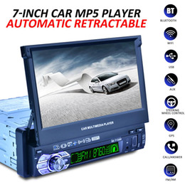 "$enCountryForm.capitalKeyWord NZ - 1 DIN 7"" HD Auto Retractable Screen bluetooth Car Radio Stereo Multimedia Player GPS Navigation Remote Control + Rearview Camera"