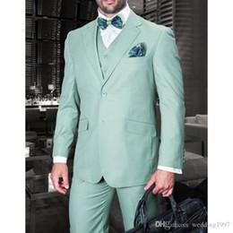 $enCountryForm.capitalKeyWord Australia - Wedding Men Suits Groom Tuxedos Tailor Made Formal Male Clothing Blazer Three Piece Jacket Pants Vest Latest Style