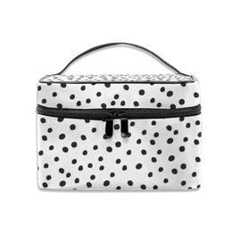 $enCountryForm.capitalKeyWord Australia - Cosmetic Bag Dalmation Multifunction Dual Compartment Portable Waterproof Cosmetic Bag