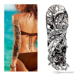 Back tattoos for men online shopping - 3D Beauty Makeup Waterproof Temporary Stickers For Men Women On His Arm Temporary Tattoos Sexy Product Bikini stickers for beach in summer