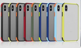Discount shockproof black matte case Shockproof Frosted Matte Hard PC Case+Soft TPU Bumper Frame For Iphone 11 Pro Max XR XS MAX X 8 7 6 Dual Color Hybrid Hi