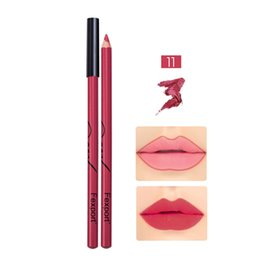 lip pen liner UK - 6 12 Pcs Lip Liner Pencil Waterproof Long Lasting Makeup Lipliner Cosmetic Lipstick Lips Color Pen KG66