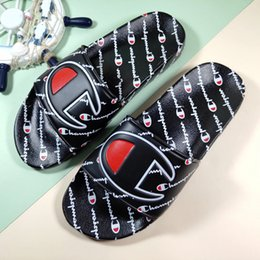 $enCountryForm.capitalKeyWord Australia - 2019 New Arrival Champions Flip-Flops for Good quality Fashion Slippers Men's Women Summer Beach Slipper Black Red Casual Sandals