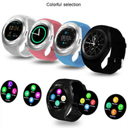 ladies camera NZ - Smart Watch Y1 Women Ladies Fitness with Whatsapp Waterproof IP67 Smartwatch Camera TF Card Sim Card Slot Android Watch for Man