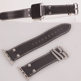 Leather Connectors Australia - For Apple watch strap real leather iWatch strap Apple Watch connector nylon strap