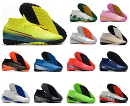 2020 Mercurial Superfly 7 VII 360 Elite TF IC MDS 002 Indoor Turf CR7 Ronaldo Neymar NJR Mens Soccer Shoes Football Boots Cleats Size 39-45 on Sale
