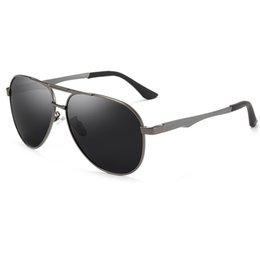 Discount vision designer - Men's brand designer polarized sunglasses men and women alloy large frame polarized sunglasses driving fishing UV40
