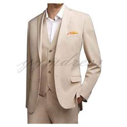 $enCountryForm.capitalKeyWord UK - Beige Summer Beach Wedding Suits Two Button Men Suits Groom Tuxedos Notched Lapel Groomsman Suit (Jackets+Pants+Vest)