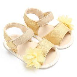Baby Girl Summer Canvas Shoes Australia - 3 Color Summer Baby Girl Shoes Newborn Toddler Baby Solid Canvas Flower Sandal Soft Sole Anti-slip Shoes Baby Girl Sandal JE25#F