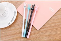 Rabbit Pens Australia - Cartoon Stationery Rabbit Jun Neutral Pen Lovely Long Ear Rabbit Signature Pen Creative Student Pen