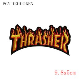 $enCountryForm.capitalKeyWord Canada - PGY Thrasher letter embroidery patch logo DIY Iron-On clothing badge fashion creative rumor decorative jacket for children