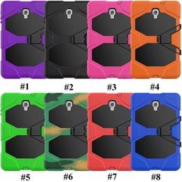 $enCountryForm.capitalKeyWord Australia - For Samsung Tab A T350 T550 Tab 4 T230 T330 Tab 3 P3200 P5200 iPad Air 2 2 3 4 Mini Silicone Plastic Kickstand Tablet Case with Stand
