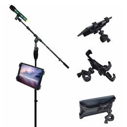 Wholesale Newly Adjustable Bike Bicycle Handlebar Stand Mount Holder Universal Bracket Clip for Tablet iPad BFE88