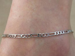 Bare Chain Australia - European and American foreign trade jewelry fashion simple 100 sets of metal chain lady's foot chain is called bare chain