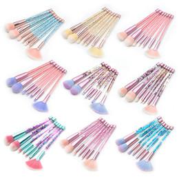 EyEbrow makEup glittEr online shopping - 7pcs Glitter Crystal Makeup Brushes Set with Bag Foundation Powder Lip Makeup Concealer Blush Eyebrow Eyeshadow makeup brushes Gemtotal
