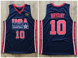 3ec45840 1992 Dream Team USA Kobe Bean Bryant #10 Retro Basketball Jersey Men's  Stitched Custom Any Number Name Jerseys