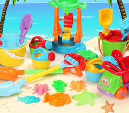toy tool set wholesale Canada - Summer Children's Beach Toy Set Cassia Baby Playing with Sand Hourglass, Sand Shovel, Barrel Tool
